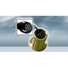Furuno 525T-LTD/12  Bronze Thru-Hull Transducer with Temp, 600W (10-Pin), 12° Tilted Element