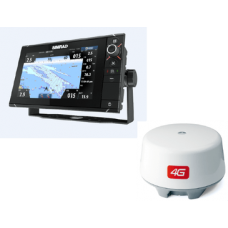 Simrad NSS9 evo2 with 4G Radar. Chart with built-in echosounder. Multi-function display, Insight charts
